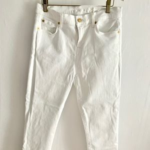 7 for all Mankind white skinny crops